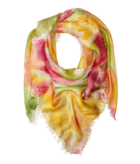 LAUREN by Ralph Lauren - Marta Fringe Scarf (Villa Orange) Scarves