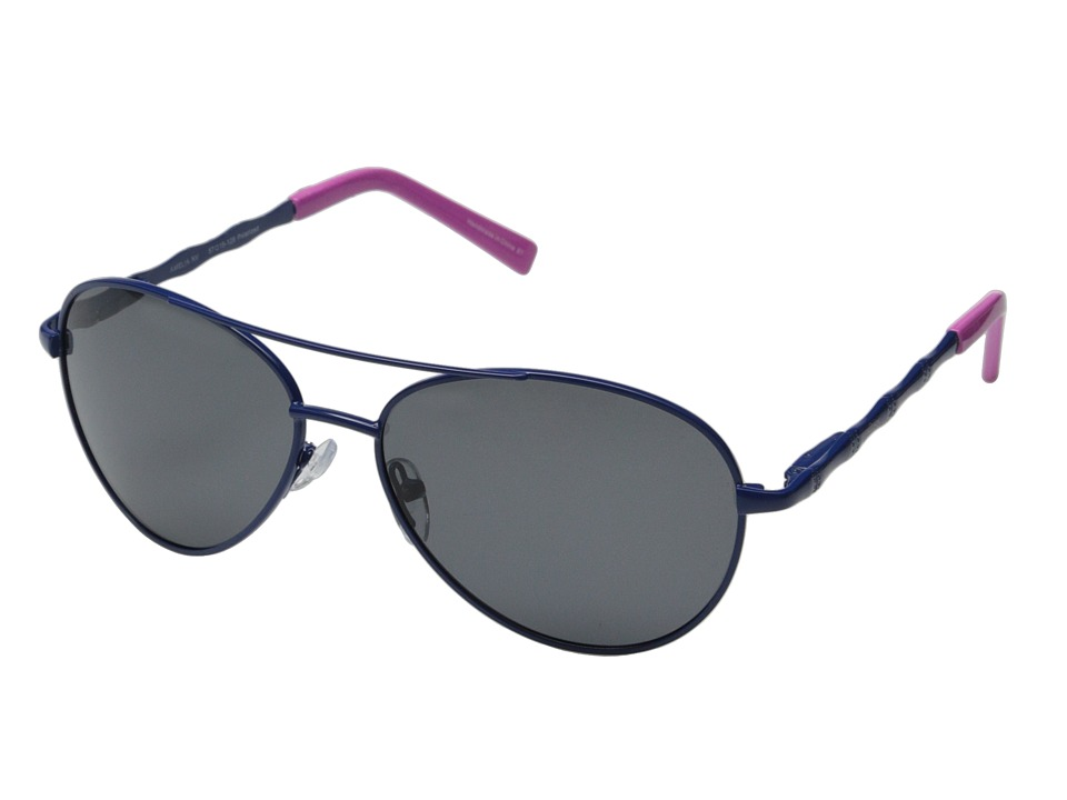 Lilly Pulitzer - Amelia (Navy/Hibiscus Pink) Metal Frame Fashion Sunglasses