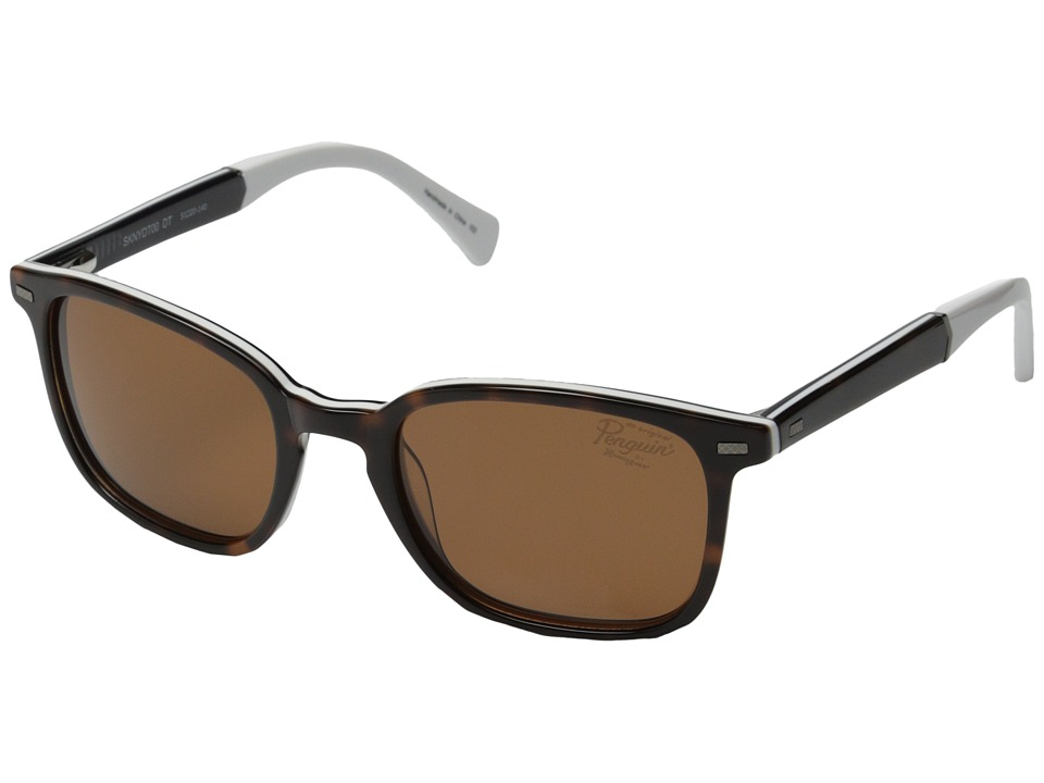 Original Penguin - The Skinny (Dark Tortoise/White/Navy) Fashion Sunglasses