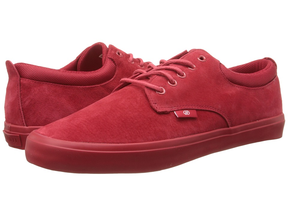 radii Footwear - The Jax (Red/Red/Suede) Men