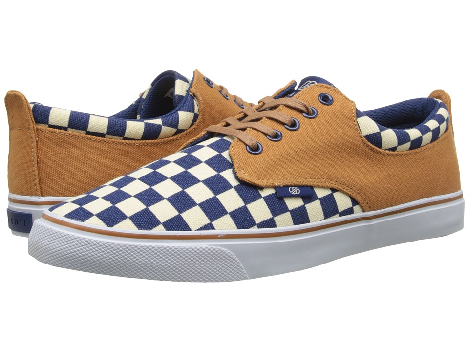 radii Footwear - The Jax (Tan/Navy/Checker Canvas) Men