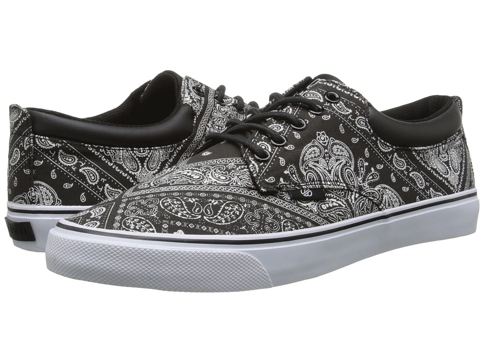 radii Footwear - The Jax (Black/White/Paisley Canvas) Men