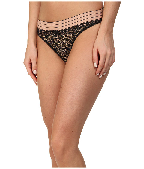 Stella McCartney - Millie Drawing Thong (Black) Women's Underwear
