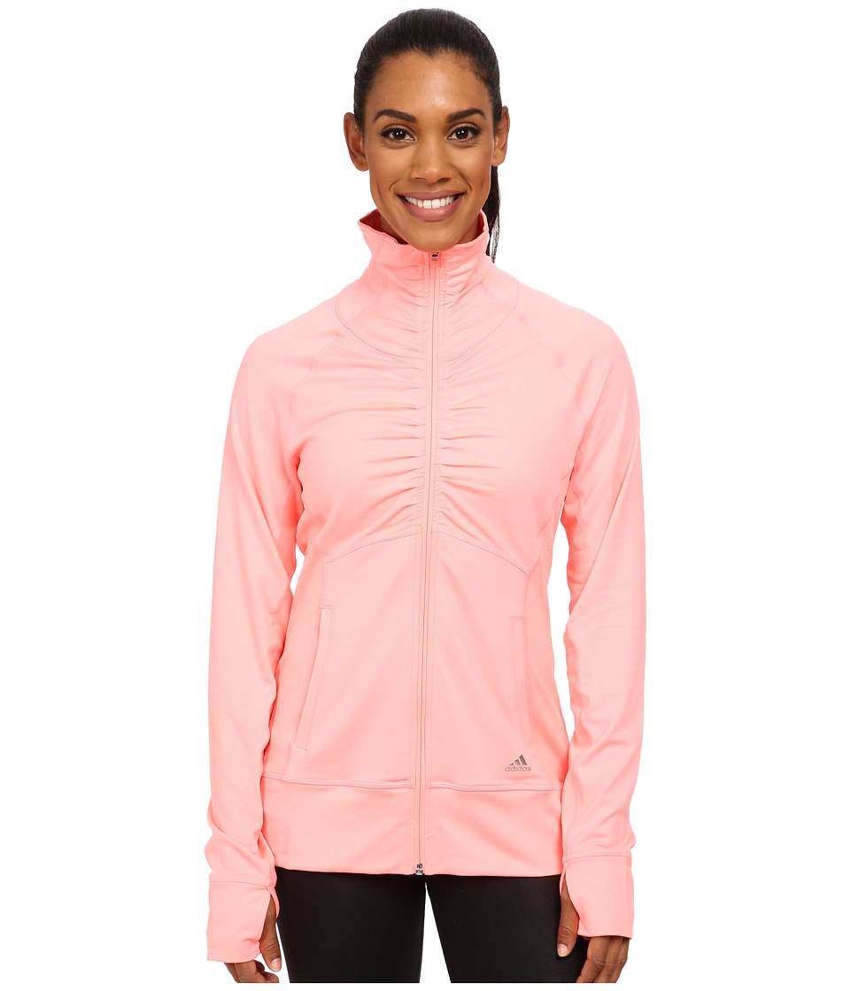 adidas Outdoor - Ultimate Jacket (Light Flash Red) Women's Workout