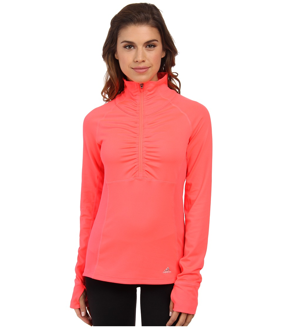 adidas Outdoor - Ultimate Half Zip (Flash Red) Women