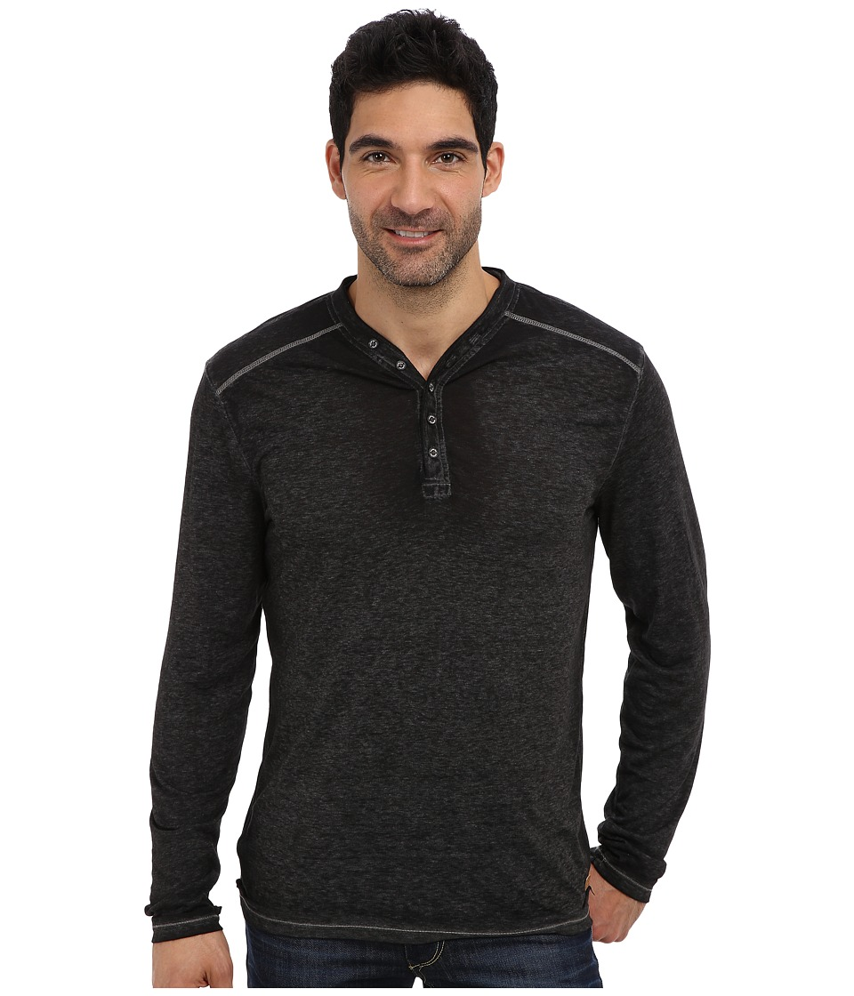 PROJEK RAW - L/S Henley (Black) Men's Long Sleeve Pullover