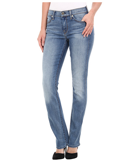 7 For All Mankind - The Modern Straight in Slim Illusion Swiss Alps Blue (Slim Illusion Swiss Alps Blue) Women's Jeans