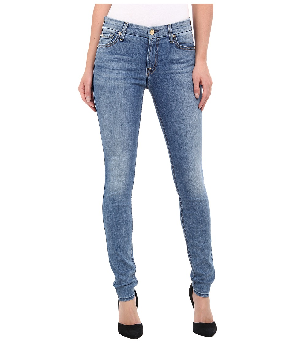 7 For All Mankind - The Skinny w/ Contour WB in Slim Illusion Swiss Alps Blue (Slim Illusion Swiss Alps Blue) Women's Jeans