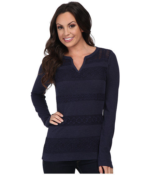 Lucky Brand - Lace Stripe Thermal (American Navy) Women