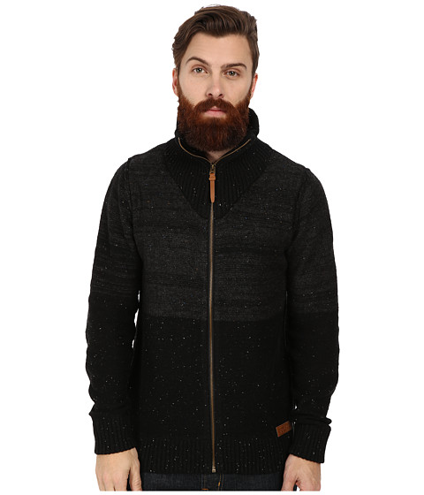 PROJEK RAW - Cotton Zip Front Sweater (Black) Men