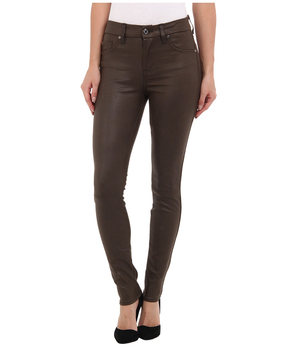 7 For All Mankind - Knee Seam Skinny w/ Contour WB in Mink Leather-Like (Mink Leather-Like) Women