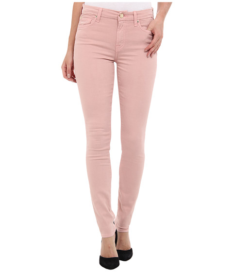 7 For All Mankind - Mid Rise Skinny w/ Contour Waistband in Brushed Sateen (Blush Pink) Women