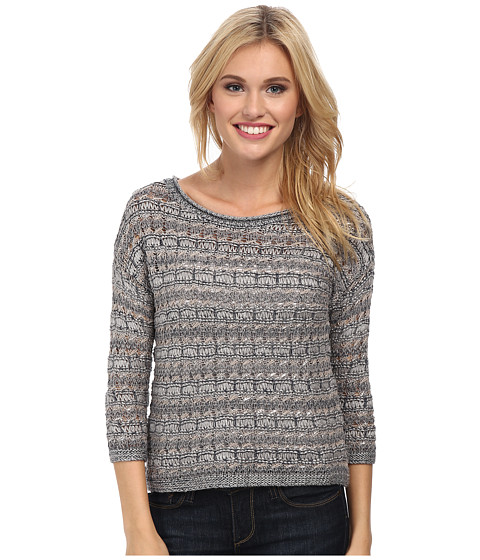 Lucky Brand - Metallic Pullover (Blue Multi) Women's Long Sleeve Pullover