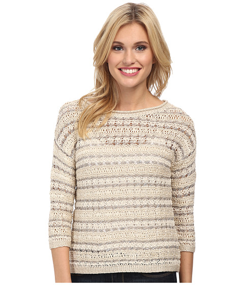 Lucky Brand - Metallic Pullover (Natural Multi) Women's Long Sleeve Pullover