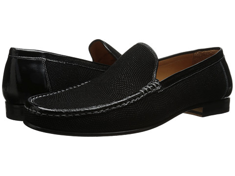 Mezlan - Assisi (Black) Men's Slip-on Dress Shoes