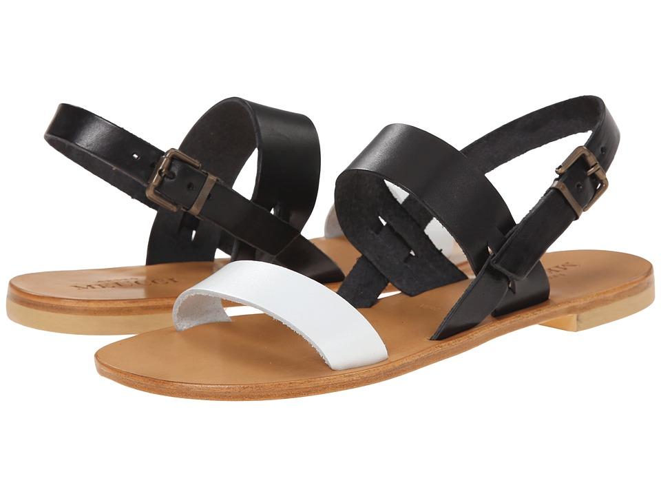 Sesto Meucci - 93 (White Vachetta/Black Vachetta) Women's Sandals