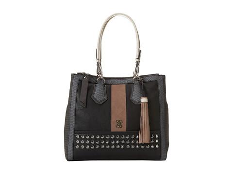 GUESS Knoxville Status Satchel (Black) Satchel Handbags