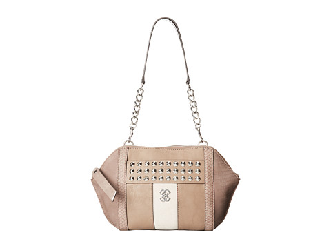 GUESS - Knoxville Uptown Clutch (Light Taupe) Shoulder Handbags