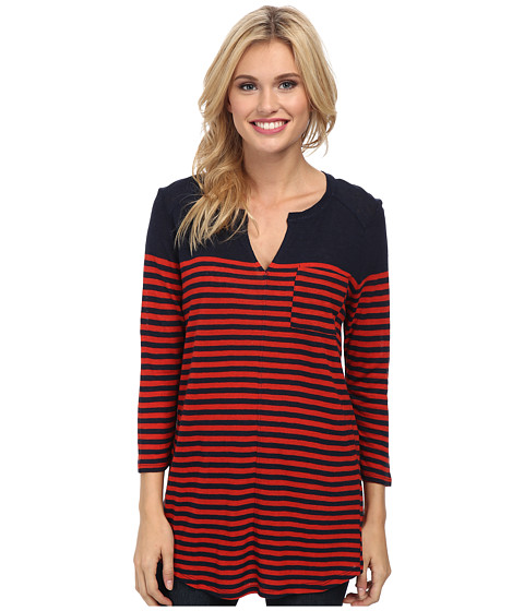 Lucky Brand - Stripe Pocket Tunic (Red Stripe) Women