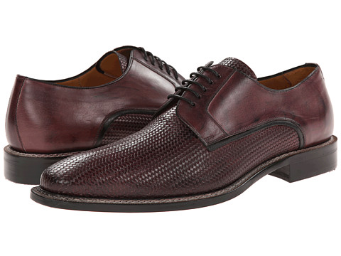 Mezlan - Tilman (Burgundy) Men's Plain Toe Shoes