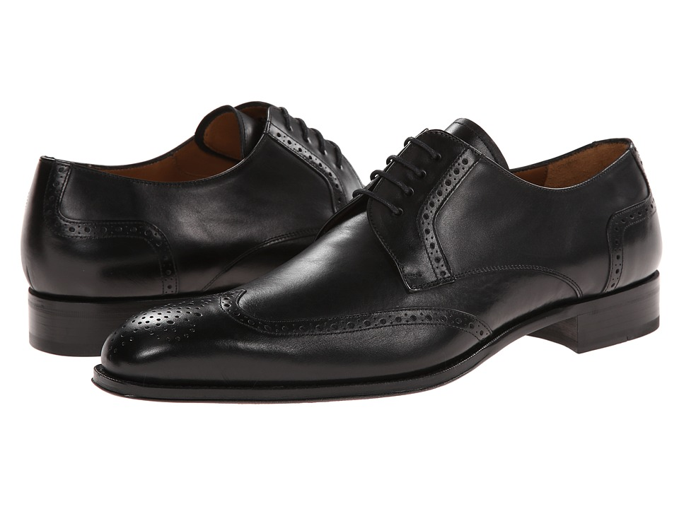 Mezlan - Bosch (Black) Men's Lace Up Wing Tip Shoes