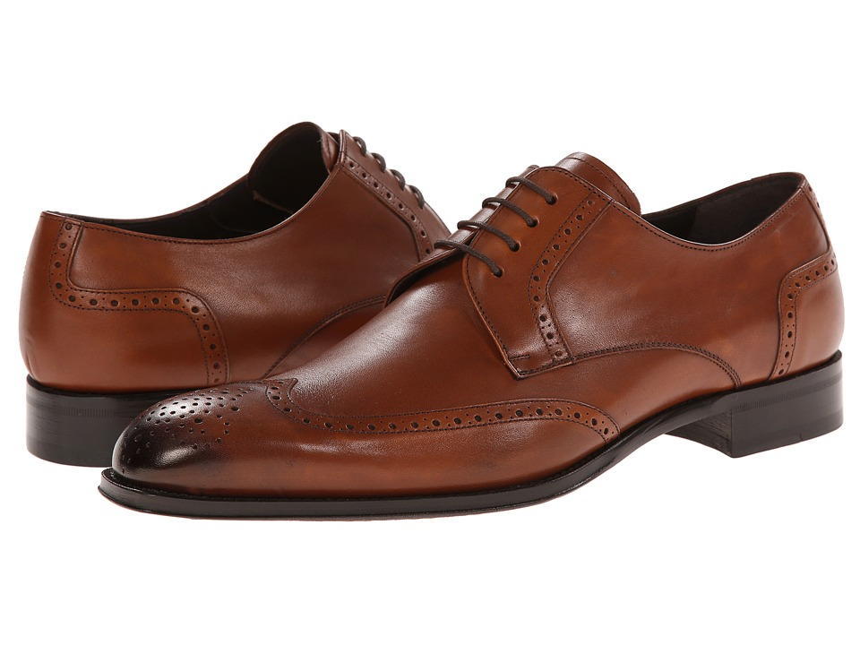 Mezlan - Bosch (Tan) Men's Lace Up Wing Tip Shoes