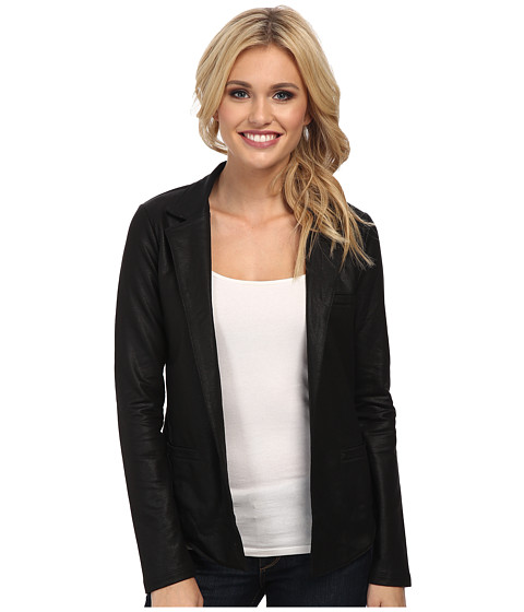 Lucky Brand - Coated Active Blazer (Lucky Black) Women's Jacket