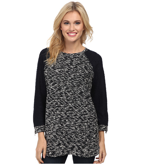 Lucky Brand - Marled Tunic (Blue Multi) Women's Long Sleeve Pullover