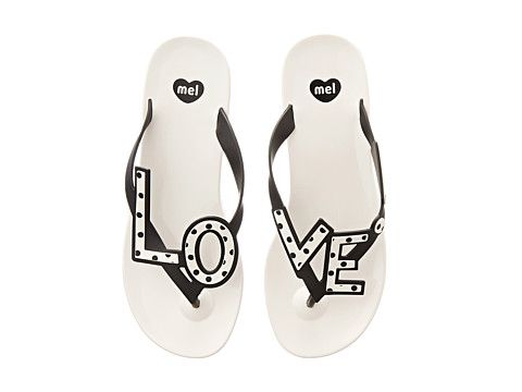 Mel by Melissa - Mel Love City (White/Black) Women's Sandals