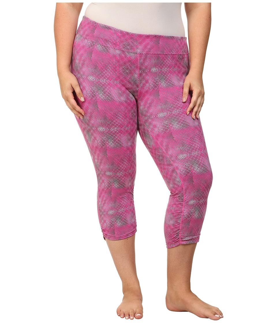 Soybu Plus Size Allegro Capri (Pink Halftone) Women