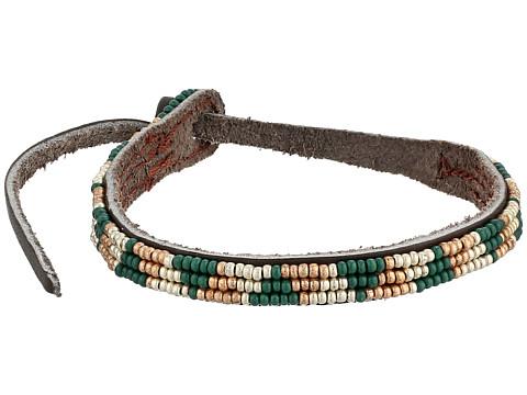 Chan Luu - Seed Bead Single Bracelet (Deep Teal Combo) Bracelet