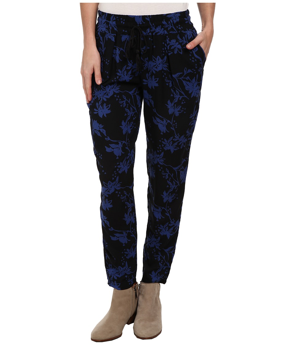 Lucky Brand - Soft Pant (Black Floral Print) Women's Casual Pants