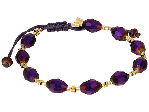 Chan Luu - 7 1/4 Fig Crystal Pull Tie Single Bracelet (Fig Crystal) Bracelet