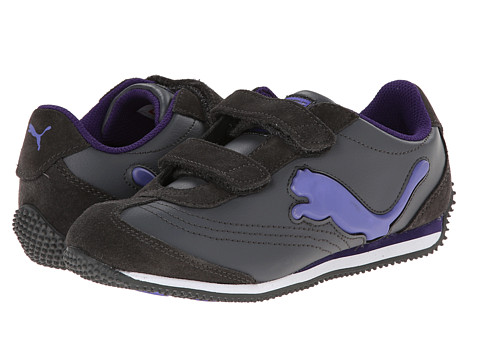 Puma Kids - Speeder Illuminescent V (Toddler/Little Kid/Big Kid) (Dark Shadow/Blue Iris/Purple) Boys Shoes