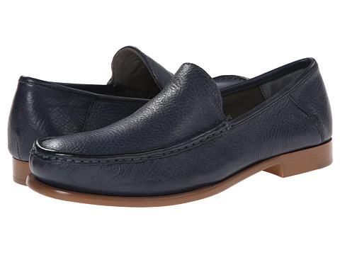 Calvin Klein - Danby (Dark Blue Waxy Leather) Men's Slip-on Dress Shoes