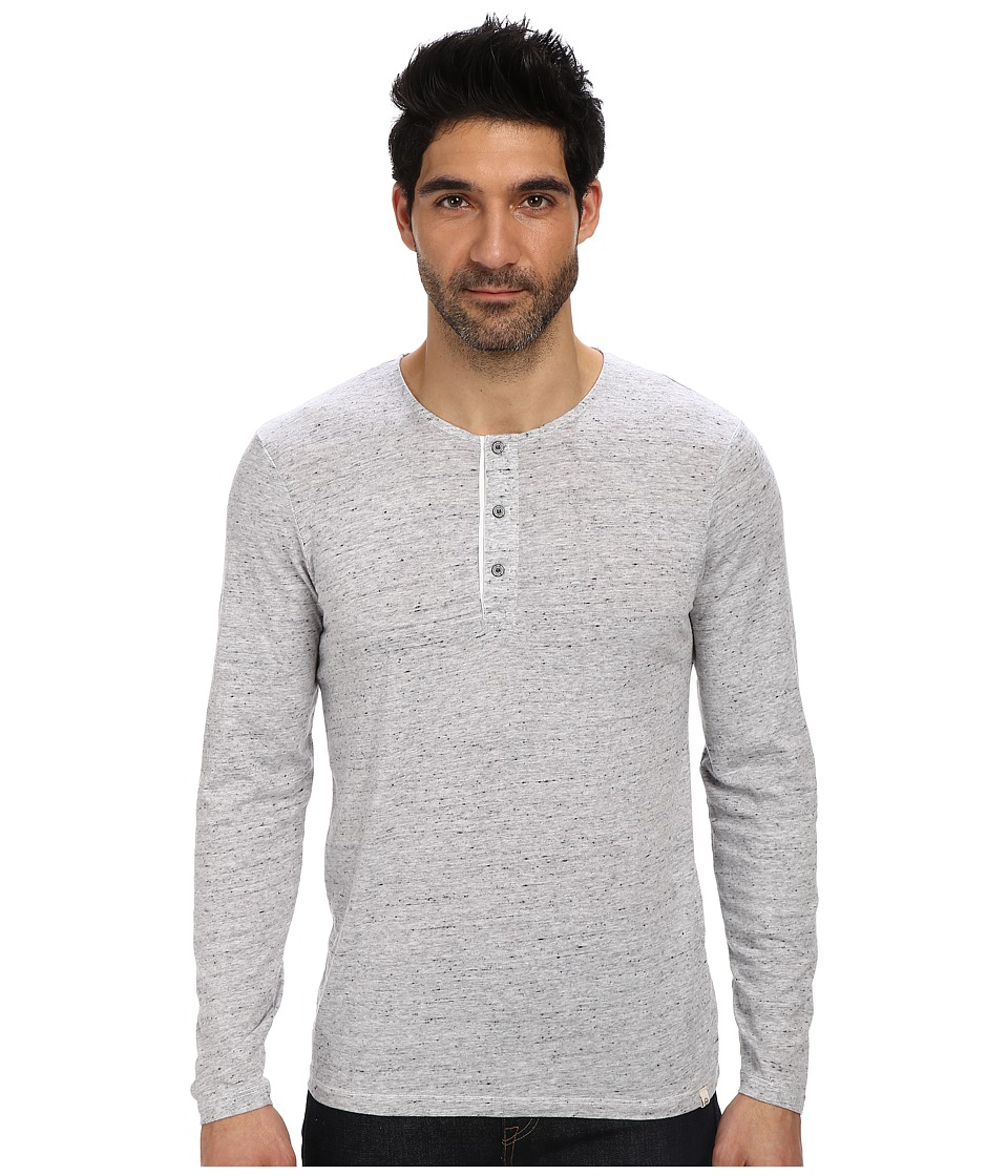 AG Adriano Goldschmied - Commute L/S Henley (Heather Gray) Men's Long Sleeve Pullover