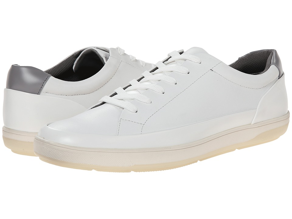 Calvin Klein - Ward (White Leather) Men's Lace up casual Shoes
