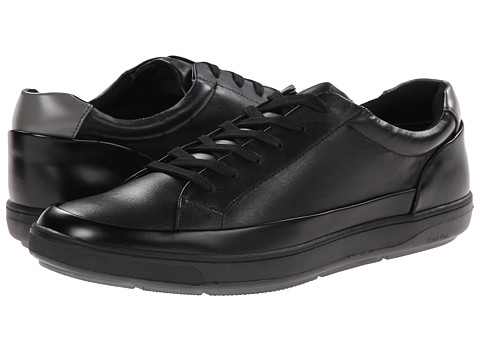 Calvin Klein - Ward (Black Leather) Men's Lace up casual Shoes