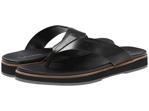 Calvin Klein - Deano (Black Leather) Men's Sandals