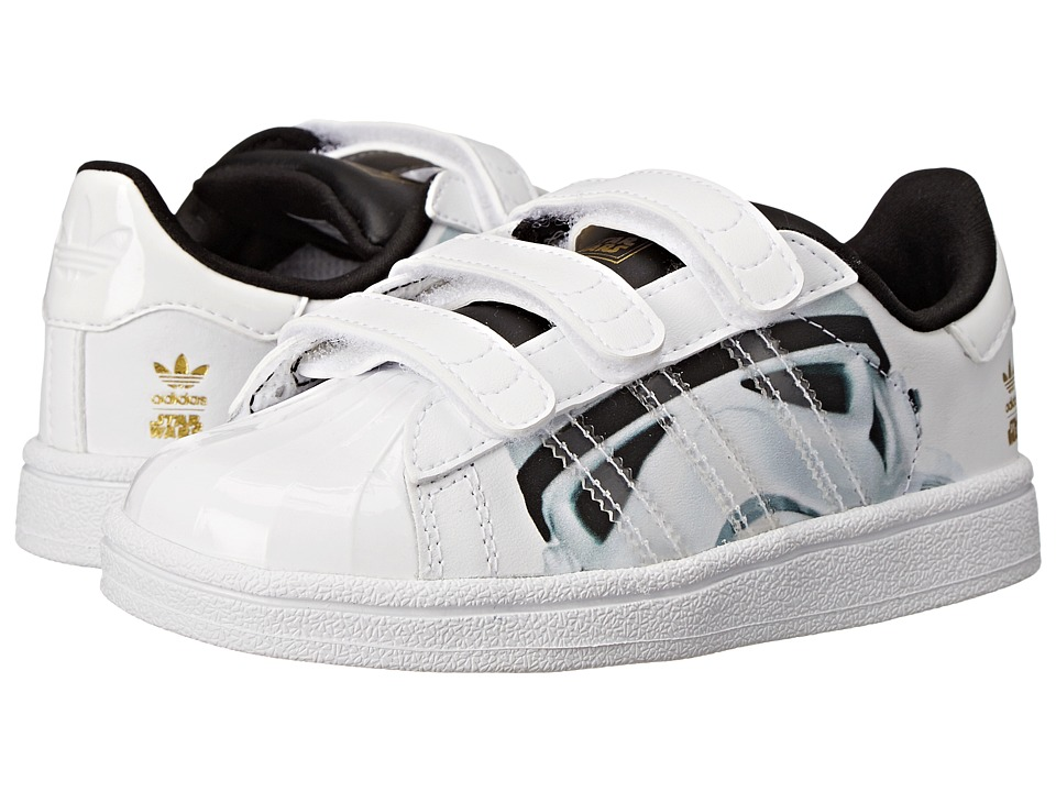 adidas Originals Kids - Superstar Stormtrooper CF (Toddler) (White/White/Core Black) Kids Shoes