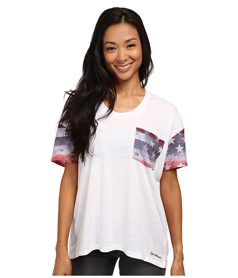 Converse - Oversized Pocket Tee (White) Women's T Shirt