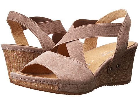 Gabor - Gabor 2.2811 (Dark-Nude Samtchevreau) Women's Wedge Shoes