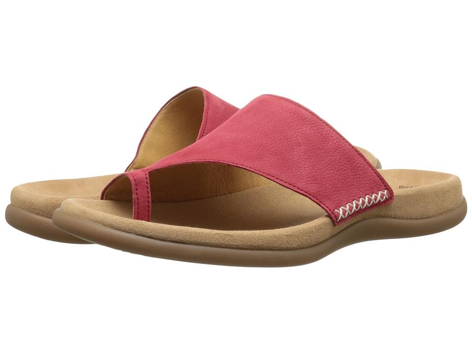 Gabor - Gabor 2.3700 (Rot Nubuck Lavato) Women's Sandals