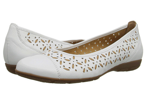 Gabor - Gabor 2.4167 (Weiss/Natural Cervo/Nappa Toskana) Women's Flat Shoes