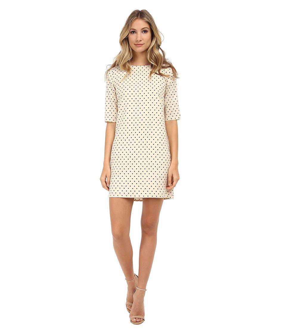 Brigitte Bailey - Lola Shift Dress (Cream Heart Repeat) Women's Dress