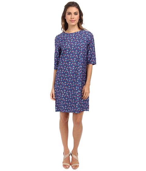 Brigitte Bailey - Lola Shift Dress (Blue Cherries) Women's Dress