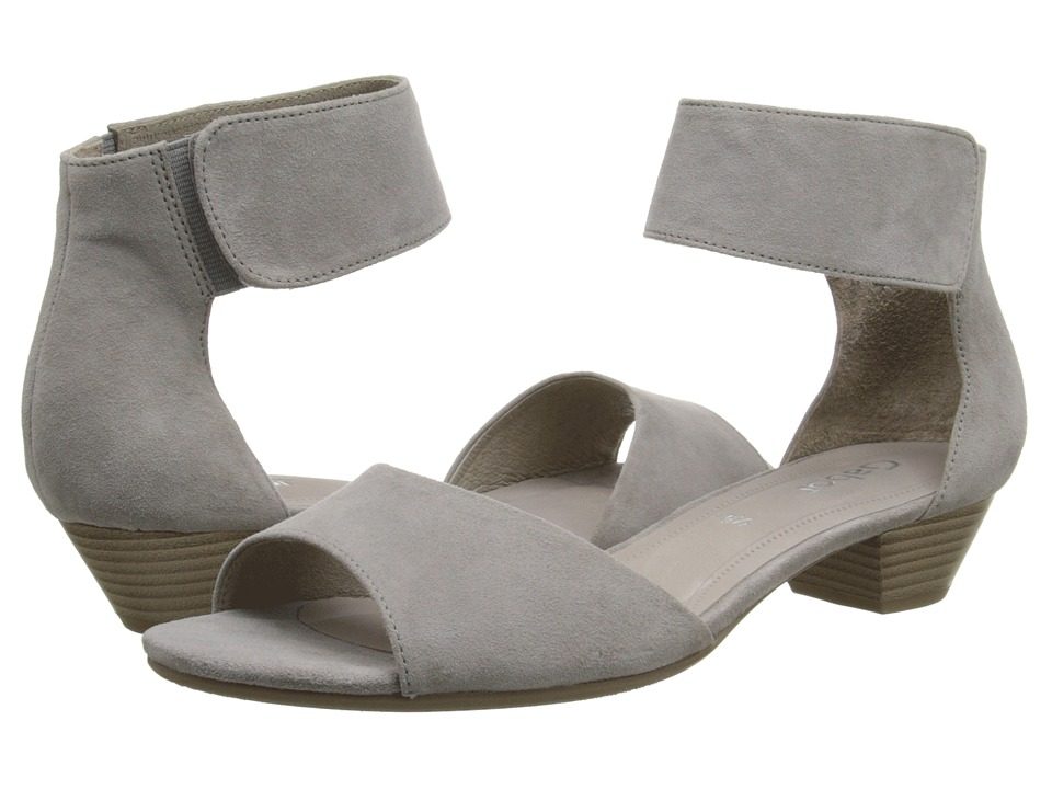 Gabor - Gabor 2.5850 (Grau Samtchevreau) Women's 1-2 inch heel Shoes