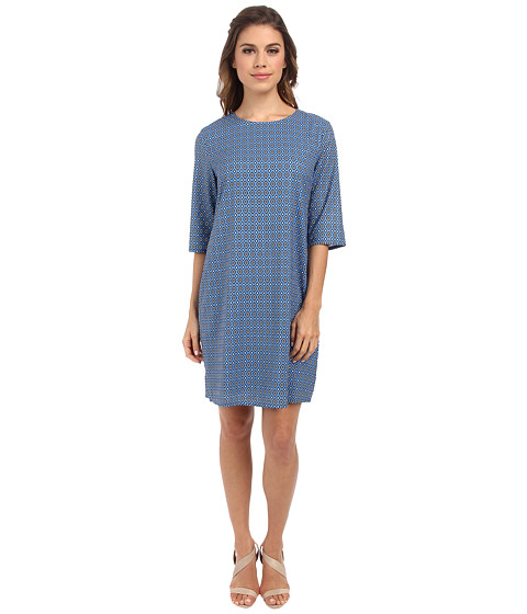 Brigitte Bailey - Lola Shift Dress (Grey Diamond Tile) Women's Dress