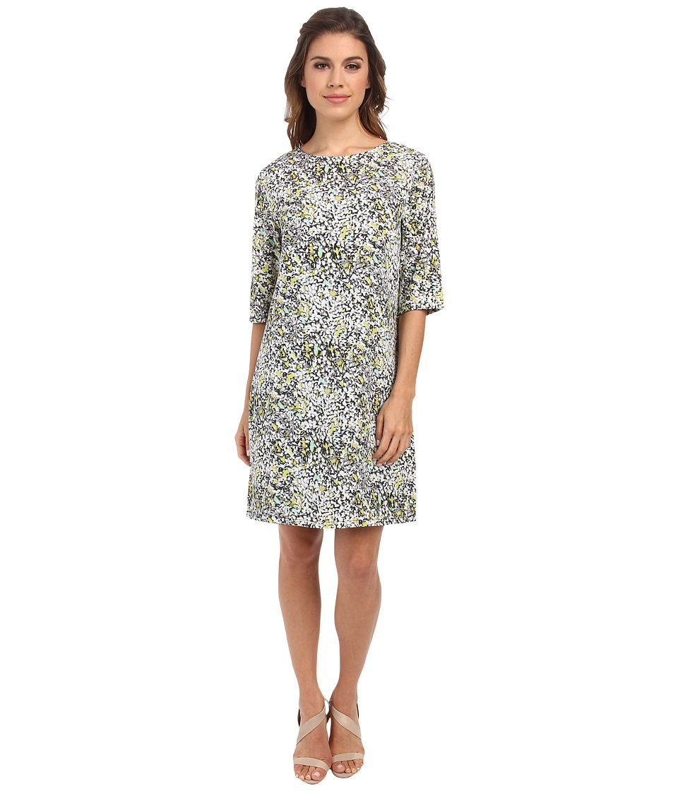 Brigitte Bailey - Lola Shift Dress (Grey Smudge Print) Women's Dress