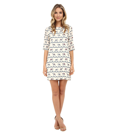 Brigitte Bailey - Lola Shift Dress (Cream Elephant) Women's Dress